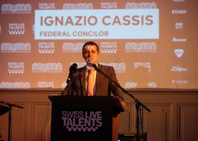 Ignazio Cassis, Conseiller fédéral, Turnhalle, SLT, MuMa 17